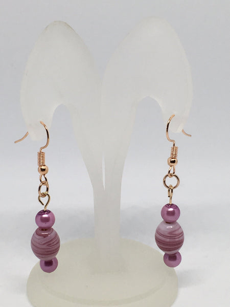 Mauve Millefiori Earrings