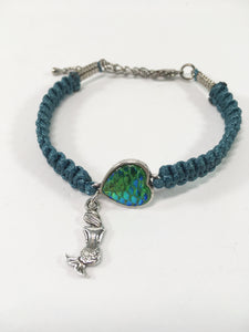 Green Macrame Mermaid Bracelet