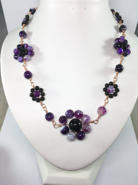 Gemstone Flower Necklace