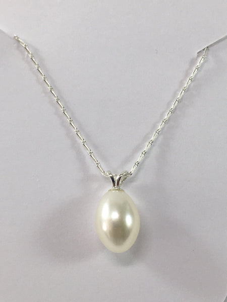 Sterling Silver And Cultured Pearl Necklace
