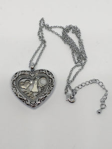 Stainless Steel Filigree Heart Bride Floating Locket