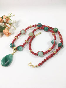 Agate Gemstone Necklace