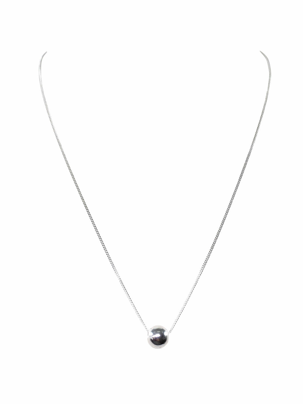 Sterling Silver Ball Charm Necklace