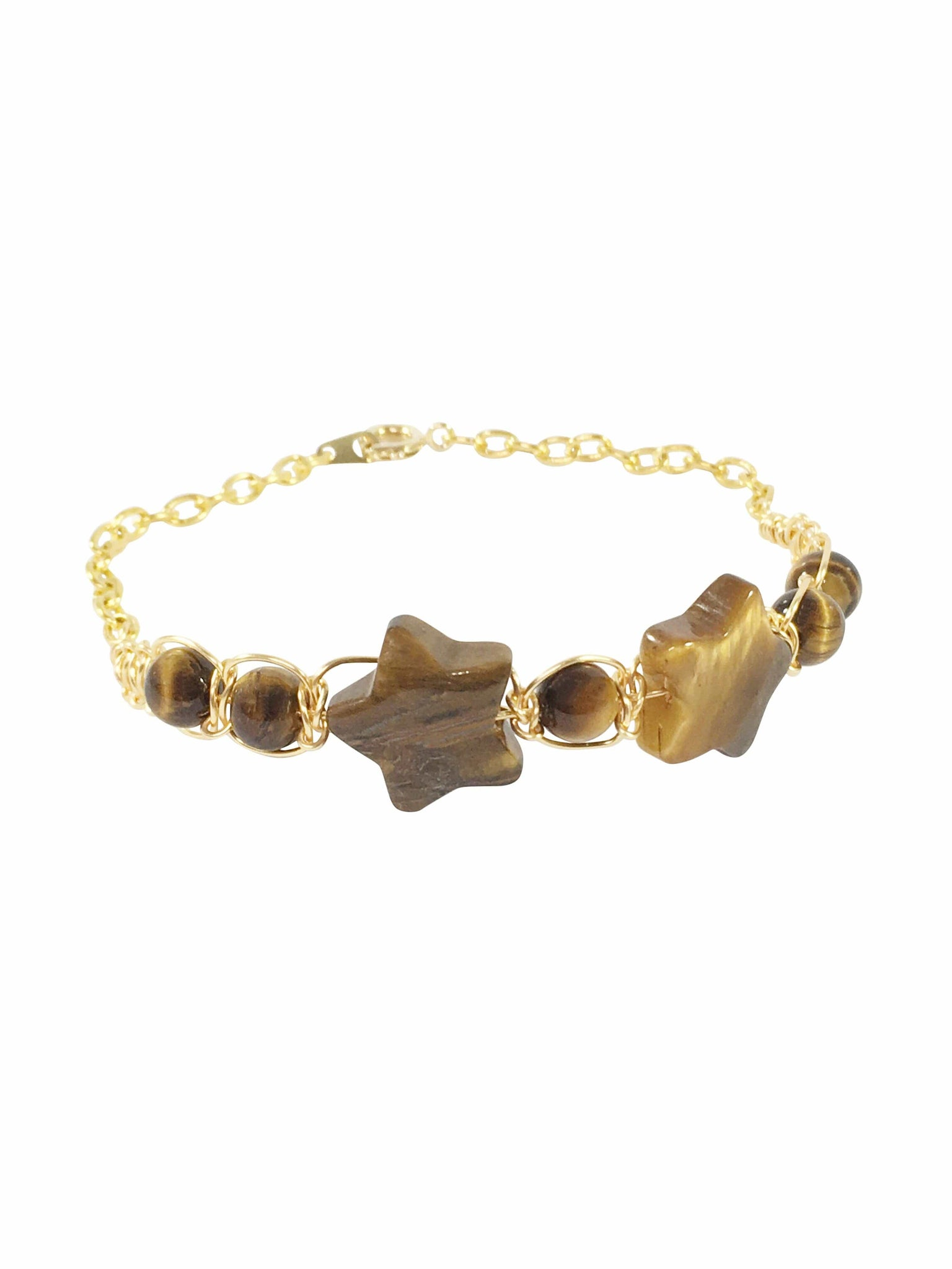 Tigers Eye Star Bracelet