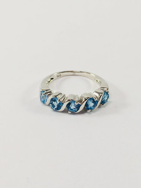 Blue Topaz And Sterling Silver Statement Ring