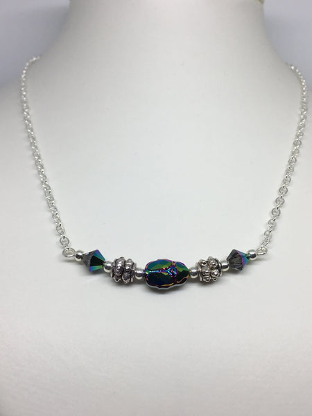 Swarovski Scarab Beetle Necklace
