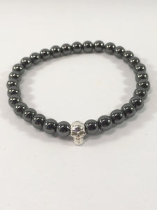 Gemstone Skull Stretch Bracelet
