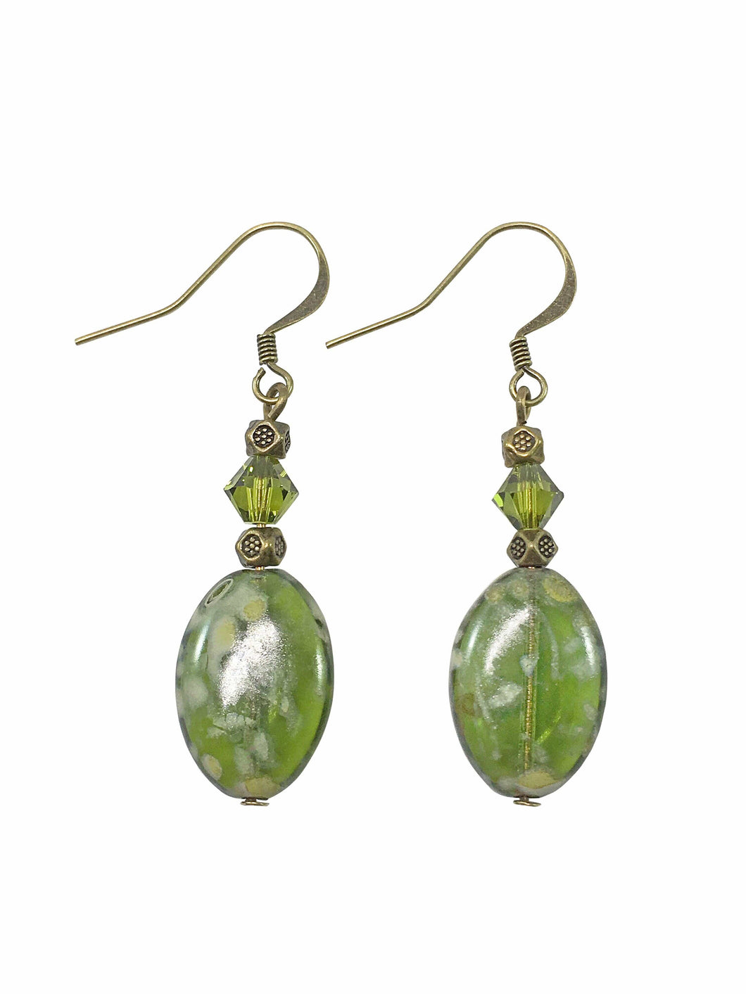 Olive Picasso Drop Earrings