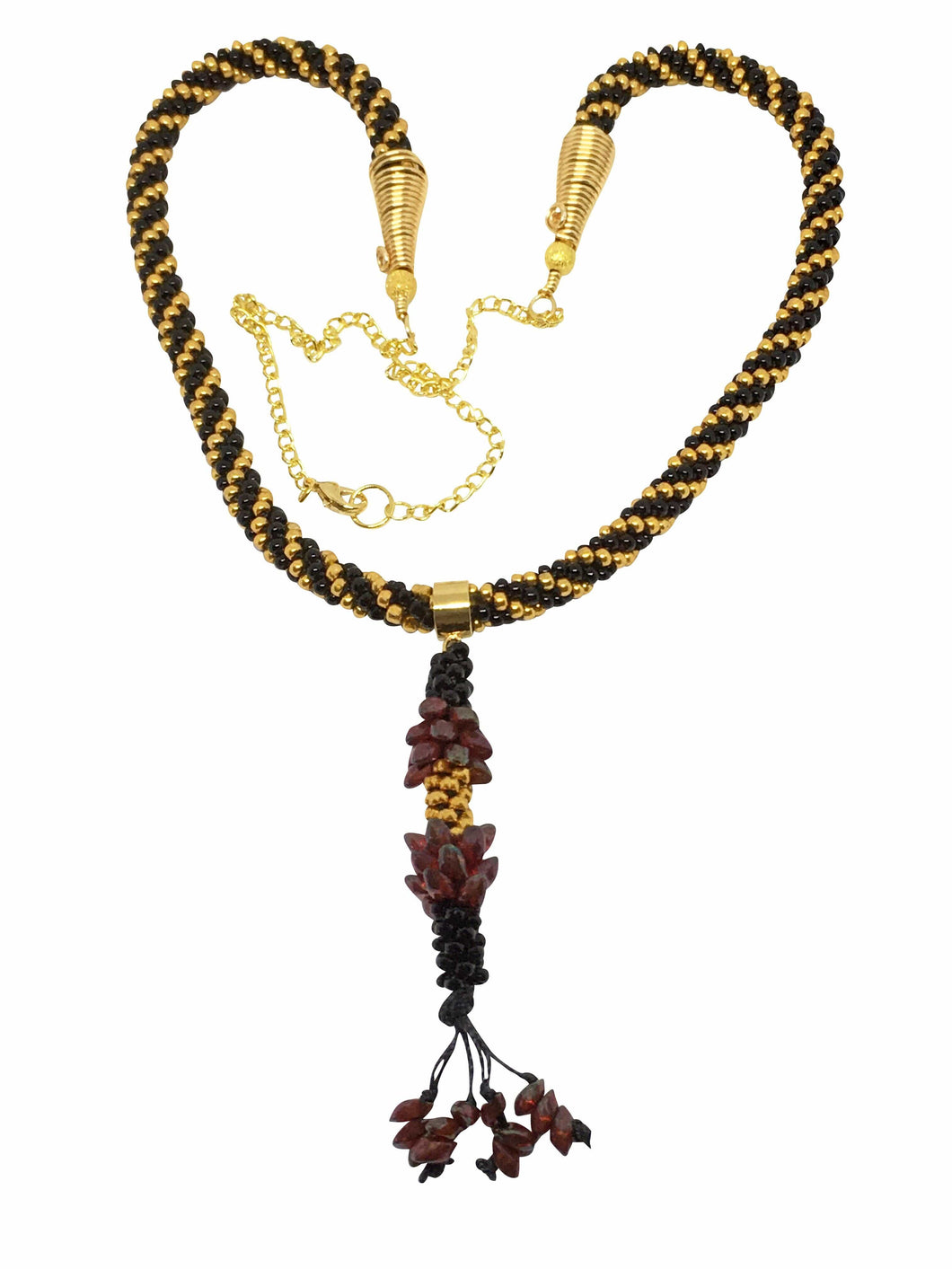 Kumihimo Pendant Necklace