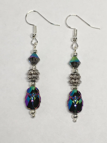 Swarovski Scarab Earrings