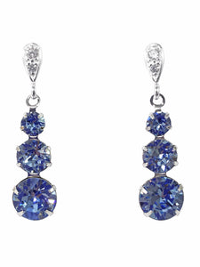 Light Sapphire Swarovski Drop Earrings