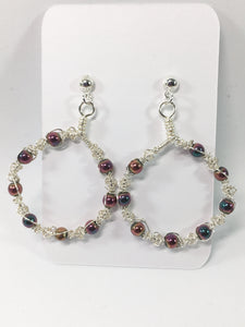 Wire Macrame Hoop Earrings