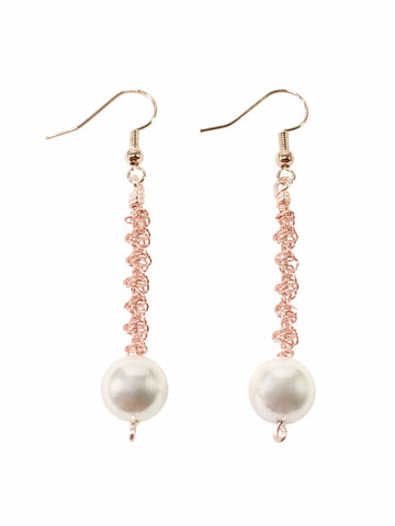 Shell Pearl Spiral Earrings