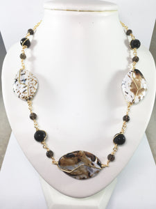 Cappuccino Agate Necklace
