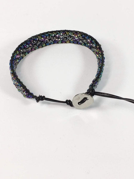Handmade Rainbow Beaded Wrap Bracelet