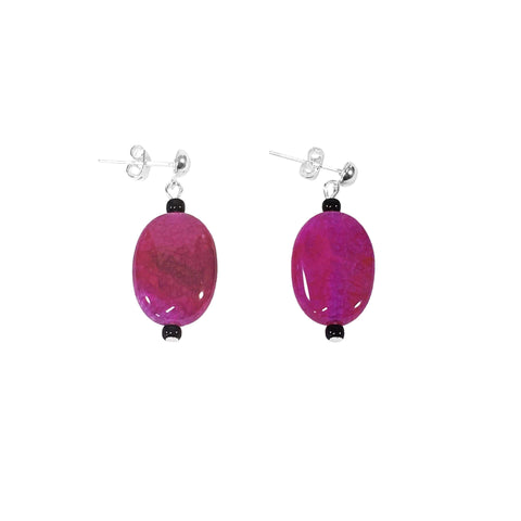 Handmade Coloured Agate Gemstone Earrings