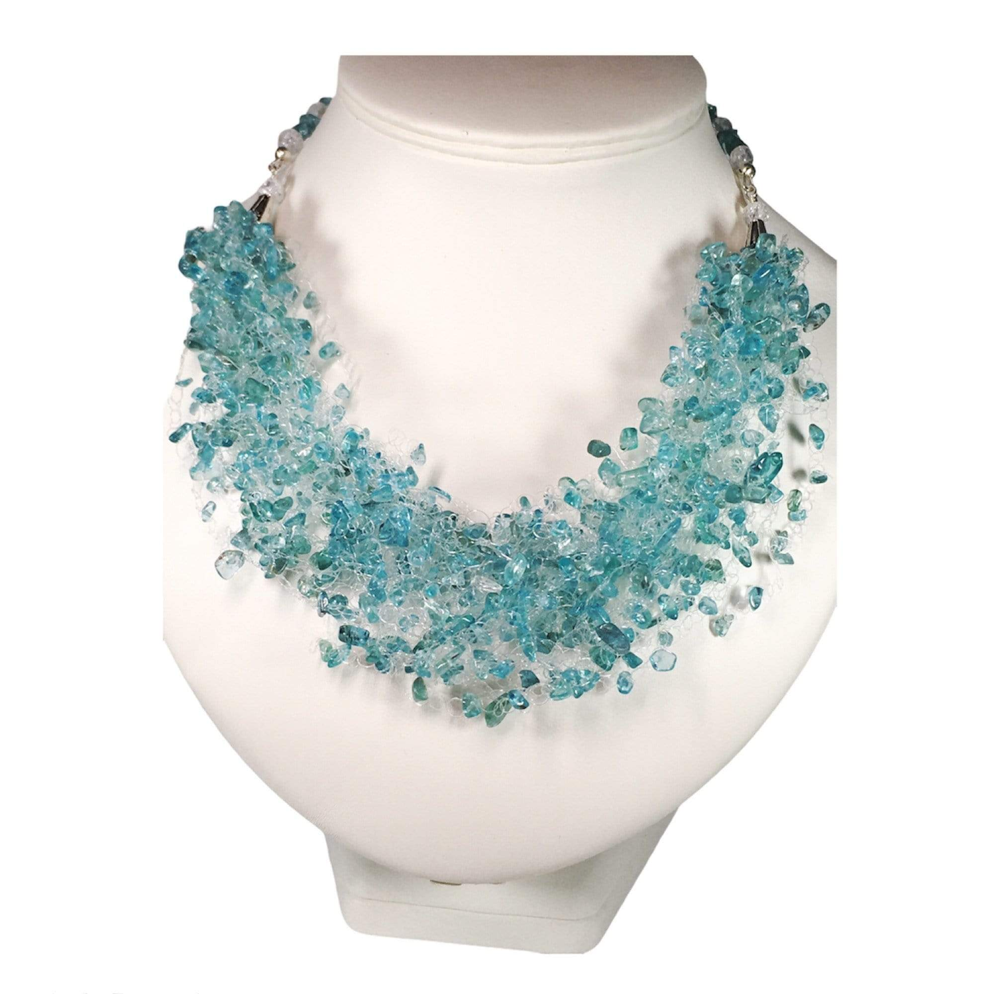 Handmade Apatite Gemstone Air Necklace