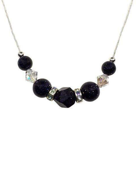 Handmade Gemstone And Swarovski Elements Necklace