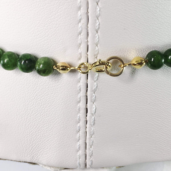 Chrome Diopside Gemstone Necklace Clasp