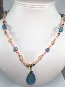 Czech Bead Macrame Necklace