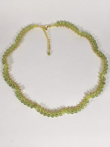 Handmade Peridot Gemstone Beaded Necklace