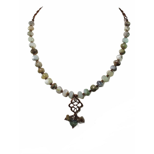 Handmade Peruvian Opal Gemstone Necklace