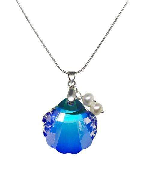 Handmade Swarovski Shell Element Pendant Necklace