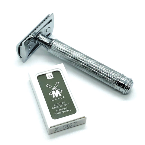 Premium Muhle Safety Razor & 10pc Blades