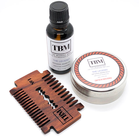 Artisanal Oil, Balm, and Comb Kit