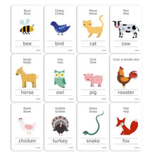 Load image into Gallery viewer, Animal Sounds - Cognitive Flash Cards
