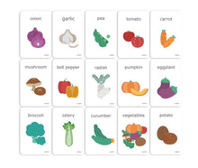 Load image into Gallery viewer, Vegetables · Cognitive Flash Cards