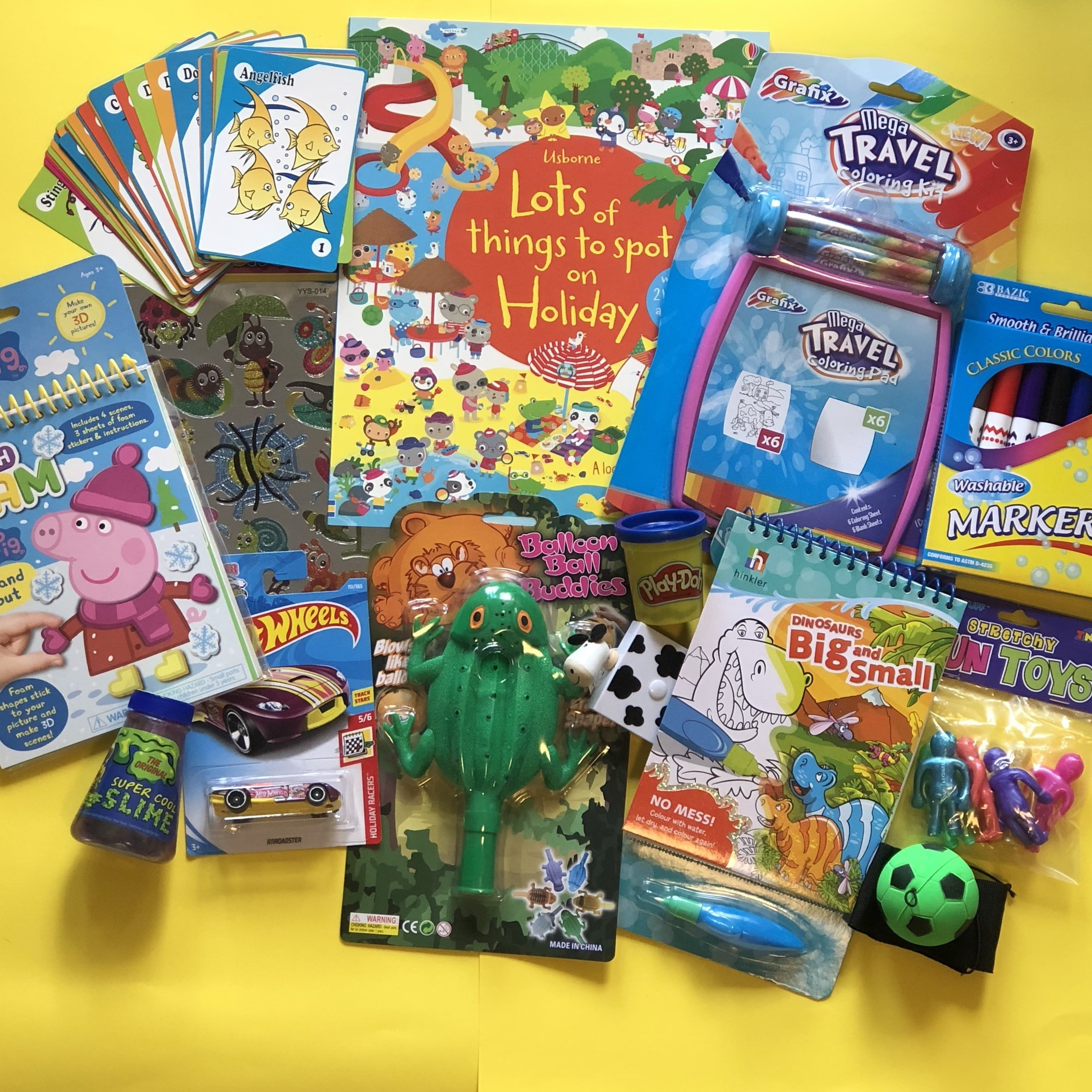 Kids books, travel toys and games, activity sticker books