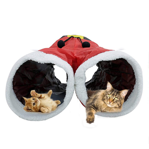 2-in-1 Funny Christmas Pant Design Tunnel Kitten Toy