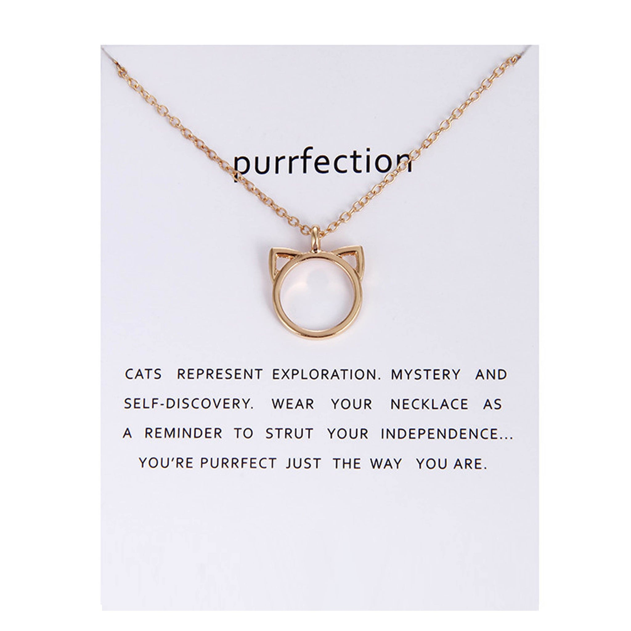 Purrfection Cat Ear Valentines Necklace ...