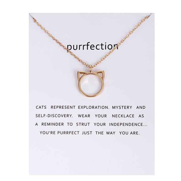 Beautiful Purrfection Cat Ear Valentine Necklace and Pendant Cat Lover