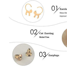 Load image into Gallery viewer, New Fashion Long Tail Cat Stud Earring Women Tiny Kitty Earrings Gifts