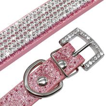 Load image into Gallery viewer, Bling Diamante Rhinestone Leather Collar
