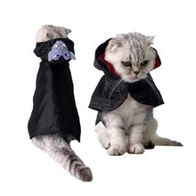 Load image into Gallery viewer, Cool Black Cat Halloween Costume Cosplay Cloak Shawls Cape Warm Scarfs Vampire