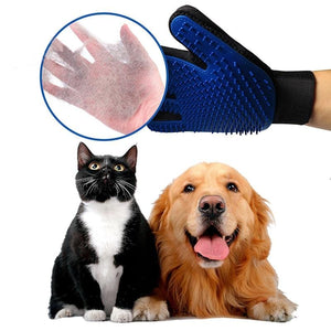 Deshedding Massage Washing Glove Brush