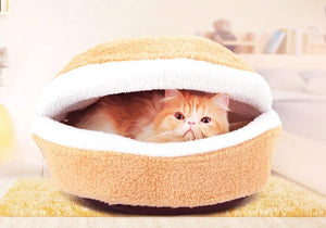 Cat Bed Hamburger Bed Bed Windproof Pet Puppy Nest Hidden Shell Burger