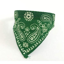Load image into Gallery viewer, Adjustable Bandana Scarf Collar Green