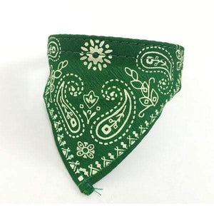 Adjustable Bandana Scarf Collar Green