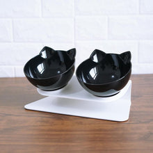 Load image into Gallery viewer, Single Double Cat Bowls With Raised Stand