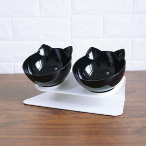 Single Double Cat Bowls With Raised Stand