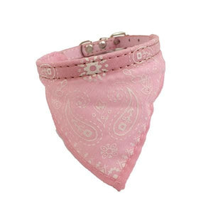 Adjustable Bandana Scarf Collar Pink