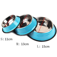 Load image into Gallery viewer, Colorful Stainless Steel Dish Feeder Blue
