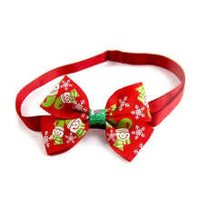 Load image into Gallery viewer, Christmas Snowflake Cat Bow Tie