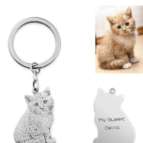 Customized Forever Pet Keychain Necklace-Necklace-CatCurio Pet Store - World's Best Cat Supplies Store -Keychain-CatCurio Pet Store - World's Best Cat Supplies Store
