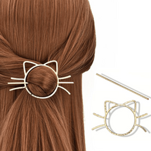 Load image into Gallery viewer, Cat Hairpin Brooch Stick
