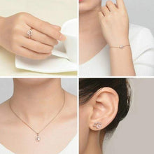 Load image into Gallery viewer, Cat Paw Rose Gold Jewelry Set for Women Ring Earring Necklace Bracelet